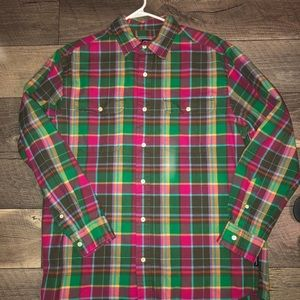 Chaps Flannel Shirt NWOT Medium Relaxed Fit